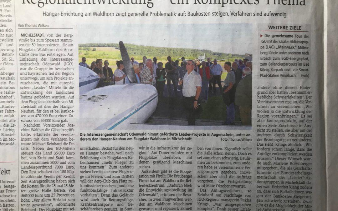 04.09.2019 Länderübergreifende Exkursion LAG Main4Eck und Interessengemeinschaft Odenwald